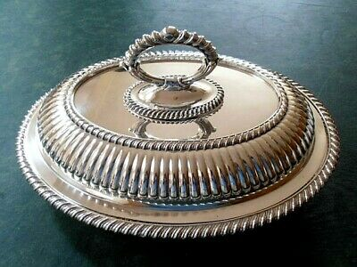 Barker Bros Oval Entree Silver Plate Serving Dish With Removable Central Handle • 49£