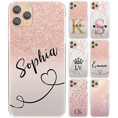 Initial Phone Case, Personalised Pink Spot Marble Hard Cover For Huawei Y3/y5/y6 • 3.99£