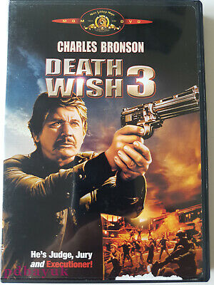 Death Wish 3 (1985) ~ Charles Bronson (DVD, 2004, R, R1) ~4274 • 5.69£
