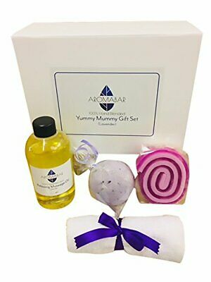 Yummy Mummy Gift Set With Relaxing Lavender Massage Oil, Lavender Bath Bomb And • 34.29£