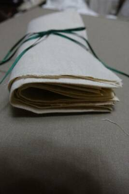 Bundle 5 Pieces Of Antique UNUSED Pure Irish Linen Fabric  Samplers & Embroidery • 10£