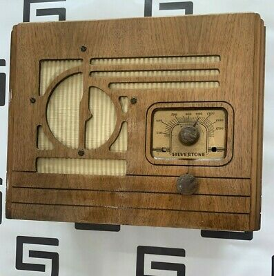 $ CDN475.75 • Buy 1930s Antique Wood Silvertone Vintage Tube Radio Tuning Dial 4630 4631 Portable