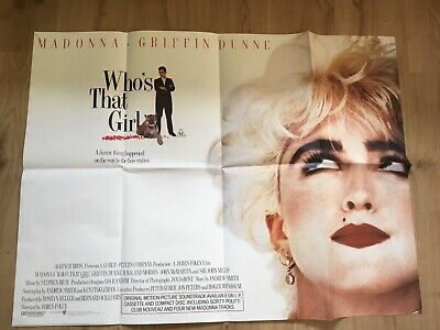 Who's That Girl ( Madonna) Quad Film Poster • 20£