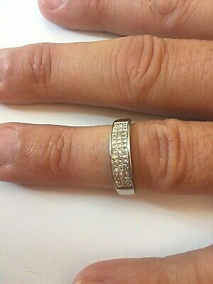 Gents Or Ladies 18ct White Gold Diamond Ring 0.50cts 3.8 Grams Not Scrap • 150£