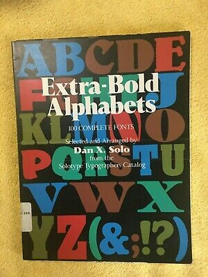 AU19.65 • Buy Extra-Bold Alphabets (Dover Pictorial Archive Series) ~ PB VG
