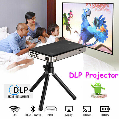 AU299.68 • Buy 4K 3D FHD Smart DLP Mini Projector LED Android WiFi 1080P Home Theater HDMI Xmas