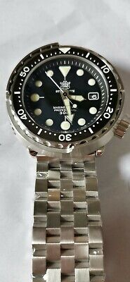 $ CDN170.18 • Buy Black Steeldive Tuna Homage Diver Seiko NH35A Automatic Watch New With Scratches