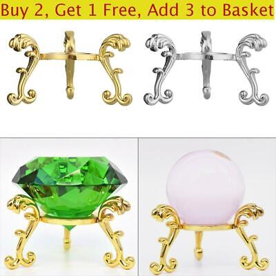 Figurine Sphere Stone Support Metal Holder Display Stand Crystal Ball Base • 2.88£
