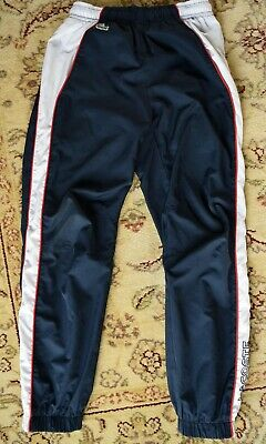 Navy Lacoste Track Pants 10y/140cm Tracksuit Boy Kinder Trainingshose Wind Junge • 10.32£