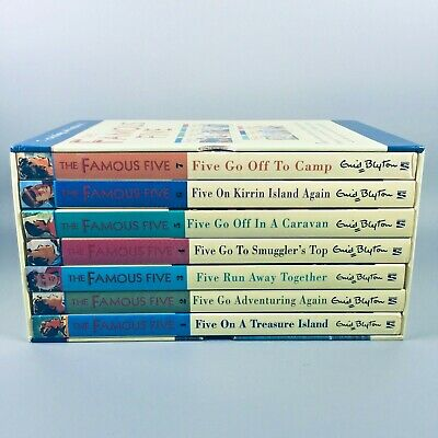 Enid Blyton The Famous Five 7 Exciting Adventures! Paperback Box Set • 17.95£