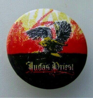 £5.99 • Buy JUDAS PRIEST SAD WINGS VINTAGE METAL BUTTON BADGE FROM THE 1980's ROB HALFORD