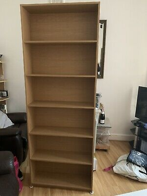 Next Large Wooden Bookshelf, Book Case, Display Cabinet Height 203cm,Barely Used • 60£