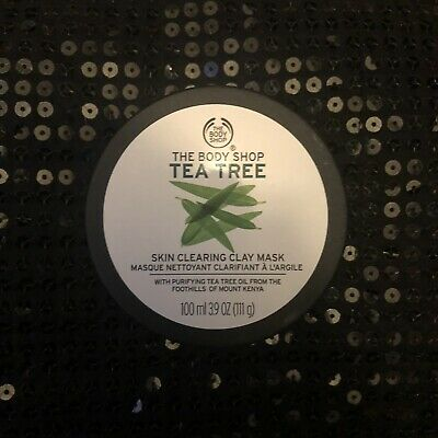 The Body Shop Tea Tree Skin Clearing Clay Mask Blemished Skin Purifying Vegan • 4.60£