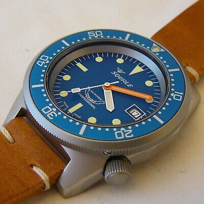 $ CDN1206.29 • Buy Watch Squale Professional OCEAN 500mt - Blasted Case, Leather Strap