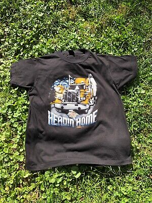 $ CDN1045.32 • Buy Vintage 1987 3D Emblem Truckers Only Headin' Home T Shirt Size Large Stockton CA