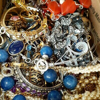 $ CDN34.89 • Buy 2lb+ Pounds  Estate Vintage To Now Mixed All Wearable Jewelry Lot