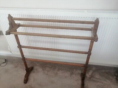 Antique Wooden Towel Rail Free Standing • 60£