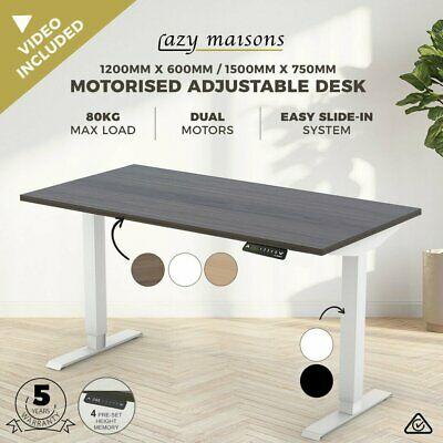 AU315 • Buy Motorised Height Adjustable Office Desk Dual Motor Electric Standing Sit Table