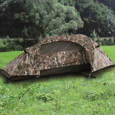 MIL-TEC RECOM ONE-PERSON TUNNEL TENT 1-Man Military Army Camping Multitarn Camo • 72.90£