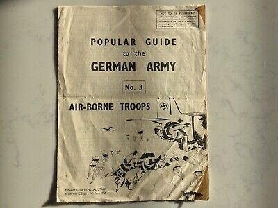 Very Rare Ww2 War Office Invasion Popular Guide To German Army Airborne Troops ! • 19.99£