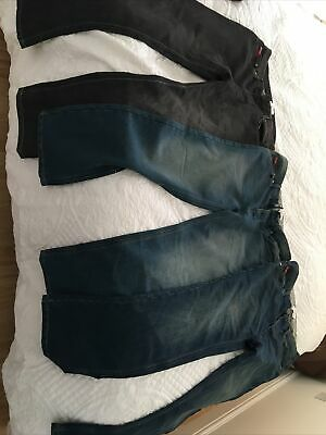 3x Lee Cooper Jeans 32w 30l Straight Jeans 1 Black 2 Blue • 2.80£