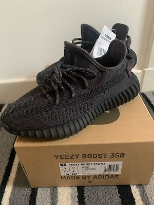 Adidas Yeezy Boost 350 V2 Black (Static) Uk4.5. With Receipt Of Purchase. • 399£