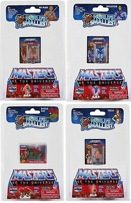 $34.95 • Buy Worlds Smallest Masters Of The Universe LOT HeMan Skeletor Battle Cat Teela MOTU
