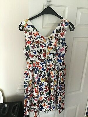 Yumi Girls Multi-Coloured Butterfly Dress Size 10 • 10£