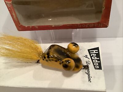 $ CDN91.47 • Buy Vintage Heddon Wooden Popeye Yellow Frog Flyrod Lure New In Correct Box