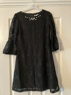 Girls Black Lace Party Dress YUMI 11-12yrs ONLY WORN ONCE • 1.99£