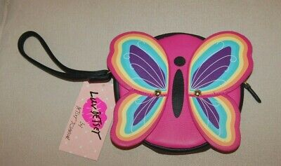 $15.99 • Buy New Rainbow Butterfly Coin Purse Wristlet By Betsy Johnson