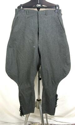Ww2 Wwii German Army Officer Grey/green Breeches Trousers • 42.71£
