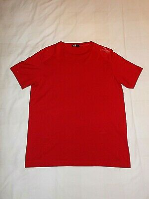 Adidas Y-3 T-shirt Crew Neck - Red - Size Large (42  Chest Slim Fit) Rare Top • 22.99£