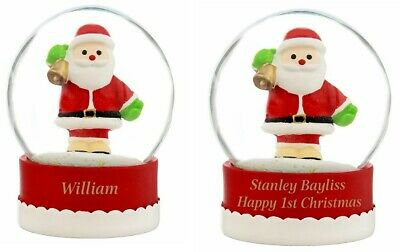 Personalised Santa Snow Globe Choose Design • 9.99£