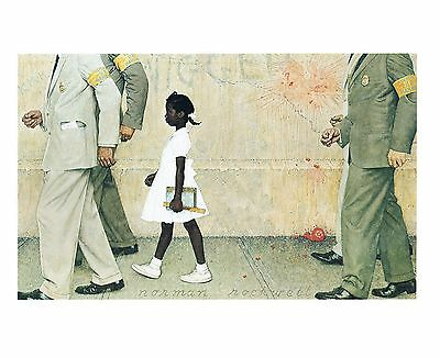 $ CDN20.40 • Buy Norman Rockwell Racism Print THE PROBLEM WE ALL LIVE WITH Ruby Bridges 11  X 15