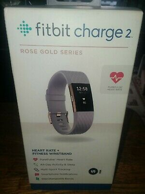 $ CDN48.01 • Buy Fitbit Charge 2 Rose Gold Series With Lavender Band