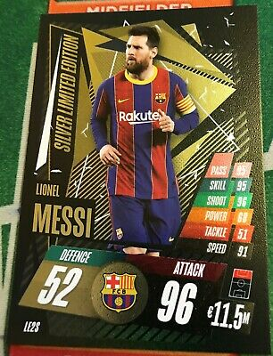 Match Attax Champions League 2020/21 Limited Edition Lionel Messi Silver • 1£