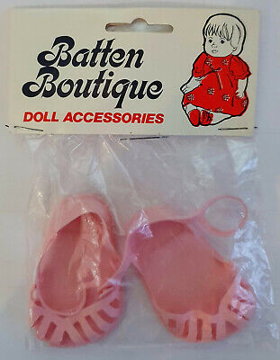 Vintage Batten Boutique Doll Accessories Cinderella No 3 Pink Doll Sandals Shoes • 5.95£