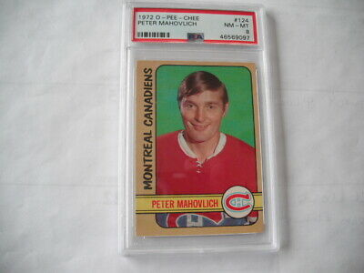 $45.99 • Buy 1972 O-pee-chee Peter Mahovlich  Montreal Canadiens  #124  Psa Graded Nm-mt 8