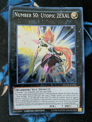 Number S0: Utopic ZEXAL MACR-ENSE2 Super Rare Limited Edition YuGiOh • 2.99£