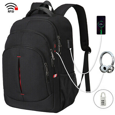 AU47.63 • Buy Large Capacity Laptop Backpack Usb Anti-theft Business Travel School Rucksack