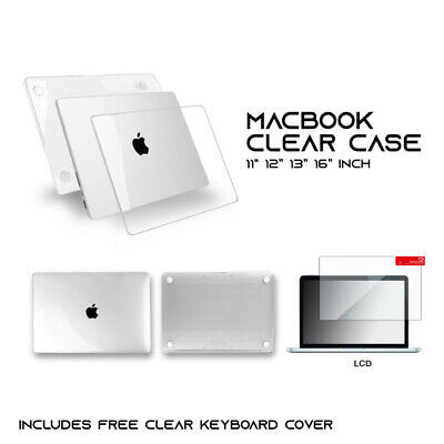 AU16.95 • Buy Mac Book Case Crystal Clear  + Clear Keyboard Cover + LCD  Air Pro 13  Inch