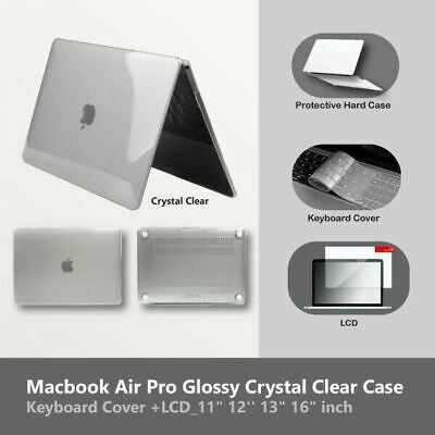 AU17.95 • Buy Mac Book Case Crystal Clear  + Clear Keyboard Cover + LCD  Air Pro 13  Inch