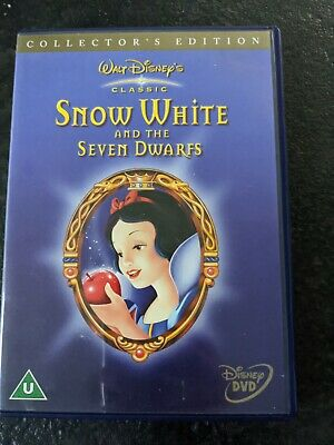 Disney Snow White And The Seven Dwarfs Collector's Edition 2 Disc DVD • 1.20£