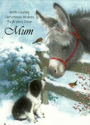 With Loving Christmas Wishes To A Very Dear Mum A5 Card Love Greetings Keepsake • 3.99£