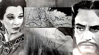1955 Vivien Leigh & Laurence Olivier DOUBLE AUTOGRAPH Signed Photos Stratford • 11.50£