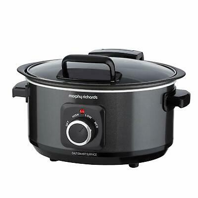 Morphy Richards 461020 Sear & Slow Cook 6.5L Slow Cooker With Hinged Lid, 163 W, • 56.17£