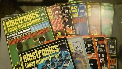 ETI Magazine Electronic Today International 11 Issues From 1976 • 6£