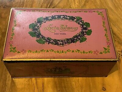 Large Vintage Louis Sherry New York Confectionary Sweet Storage Tin • 3.49£