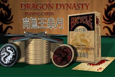 Bicycle Playing Cards Dragon Dynasty Rare Limited Authentic Oriental Deck USPCC • 9.99£